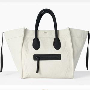 Celine Ivory Canvas Phantom Luggage Tote
